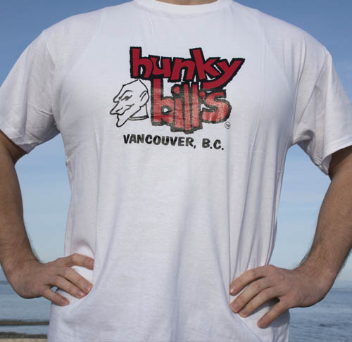 Hunky Bills White Vancouver TShirt Front Online
